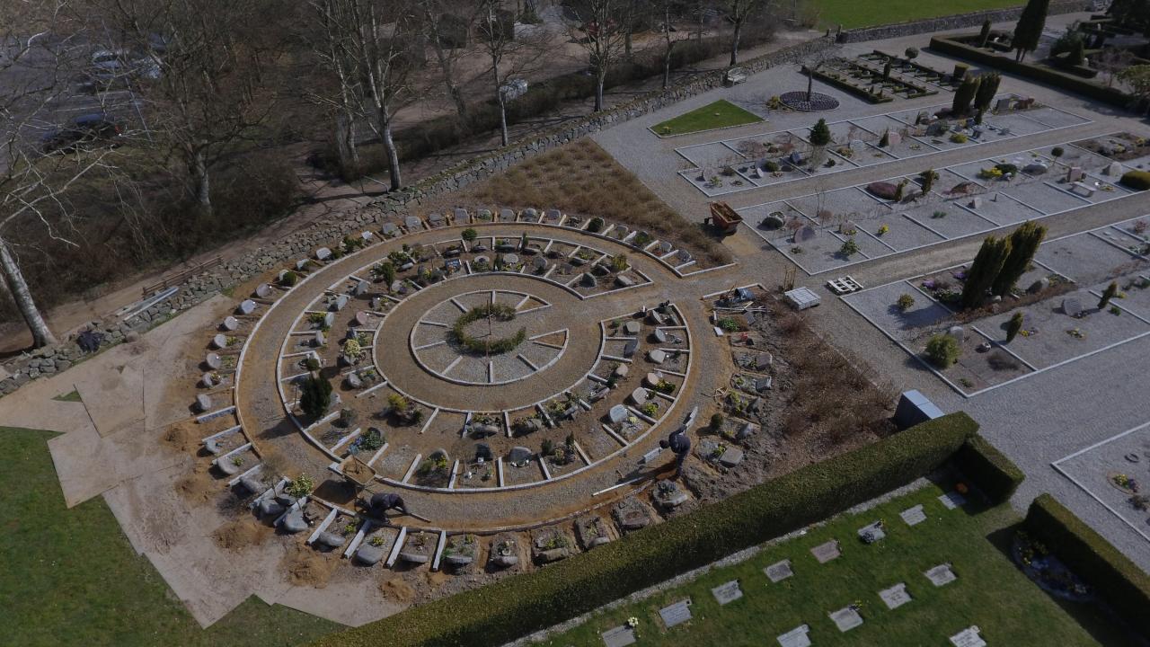 nye urnegarvsteder ved tyrstrup kirkegård